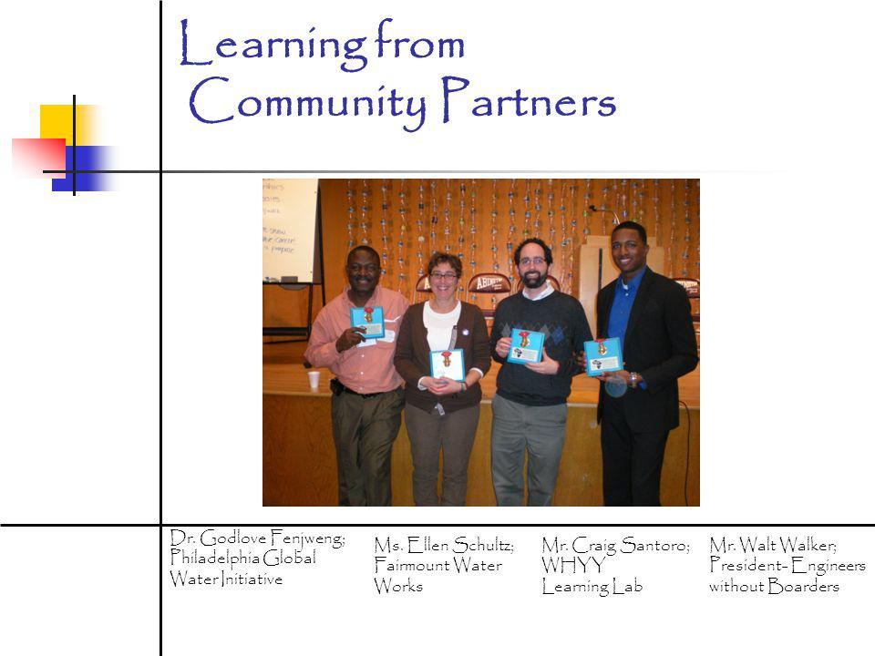Learning from Community Partners