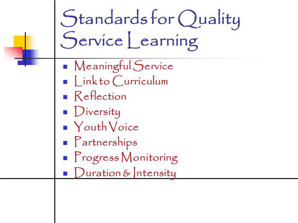 Standards for Quality Service Learning
