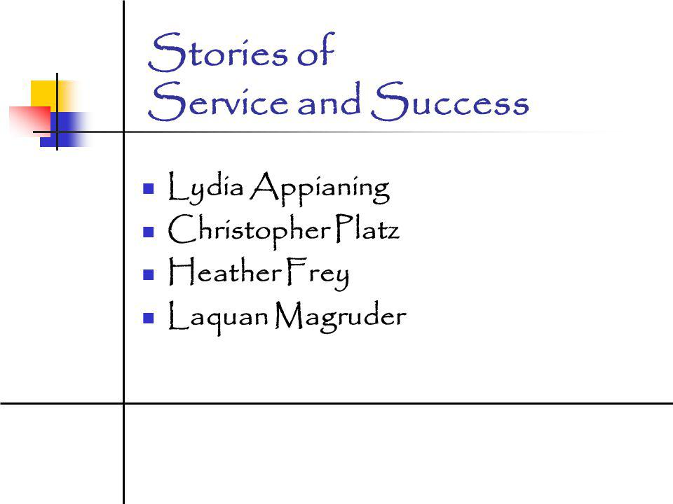 Stories of Service and Success