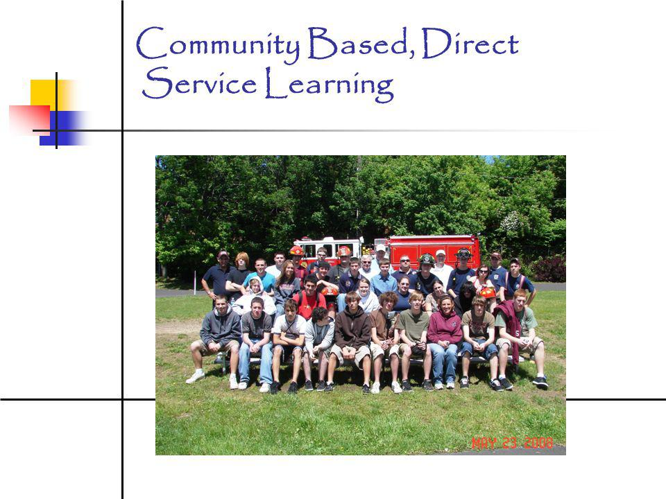Community Based, Direct Service Learning