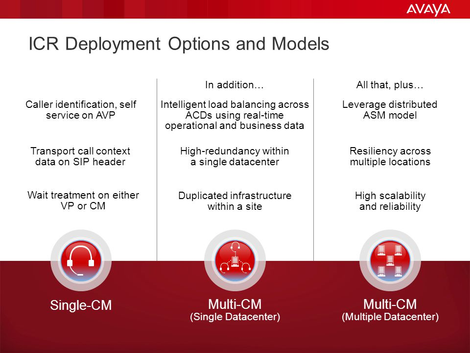 ICR Deployment Options and Models