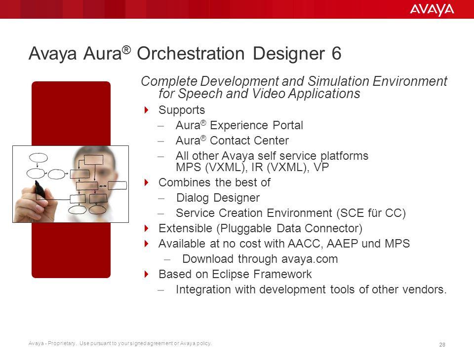Avaya Aura® Orchestration Designer 6