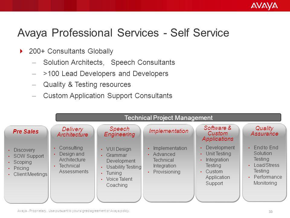 Avaya Professional Services - Self Service