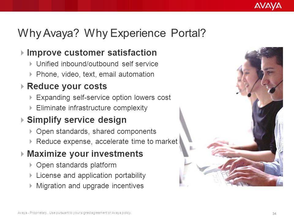 Why Avaya Why Experience Portal