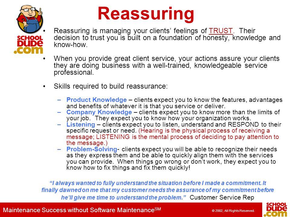 Reassuring