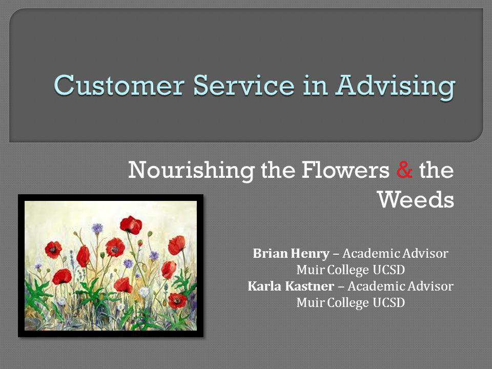 Customer Service in Advising