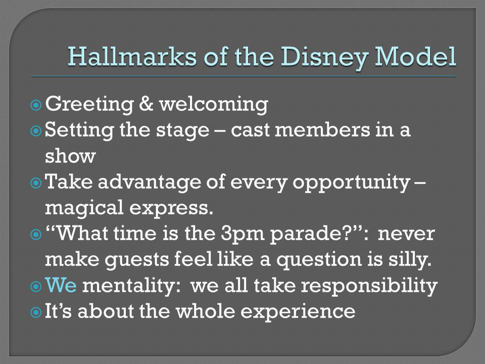 Hallmarks of the Disney Model