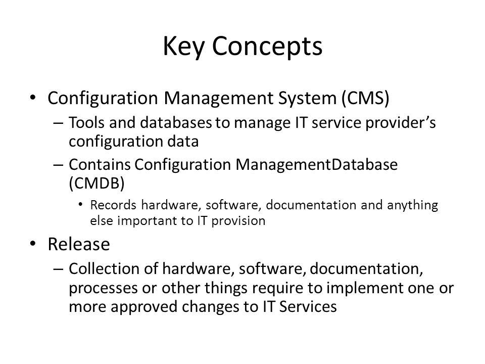 Key Concepts Configuration Management System (CMS) Release