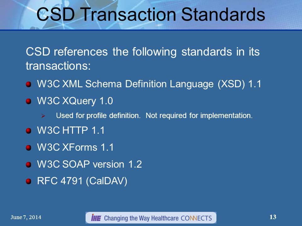 CSD Transaction Standards