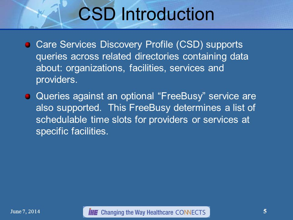 CSD Introduction