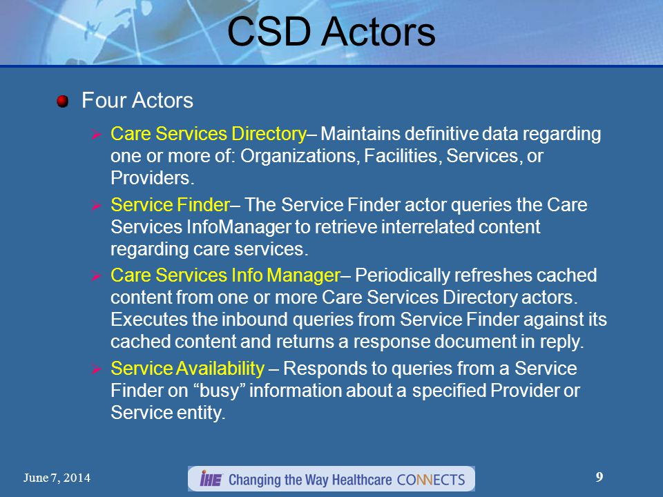 CSD Actors Four Actors.