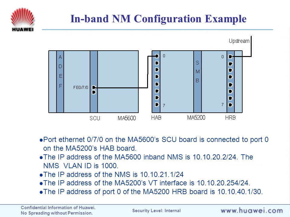 In-band NM Configuration Example