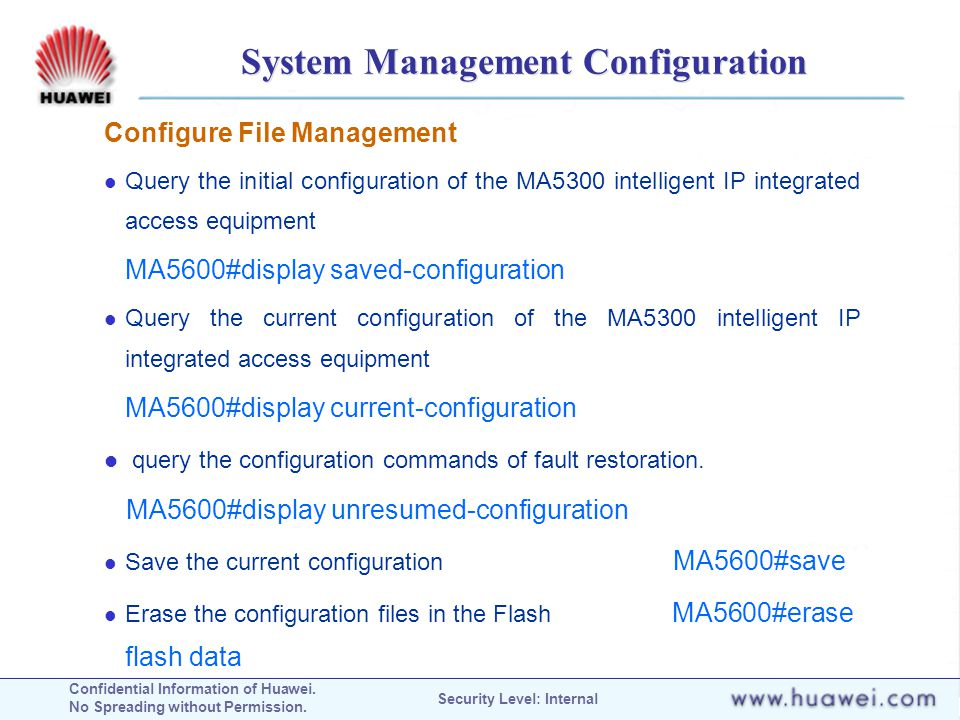 System Management Configuration