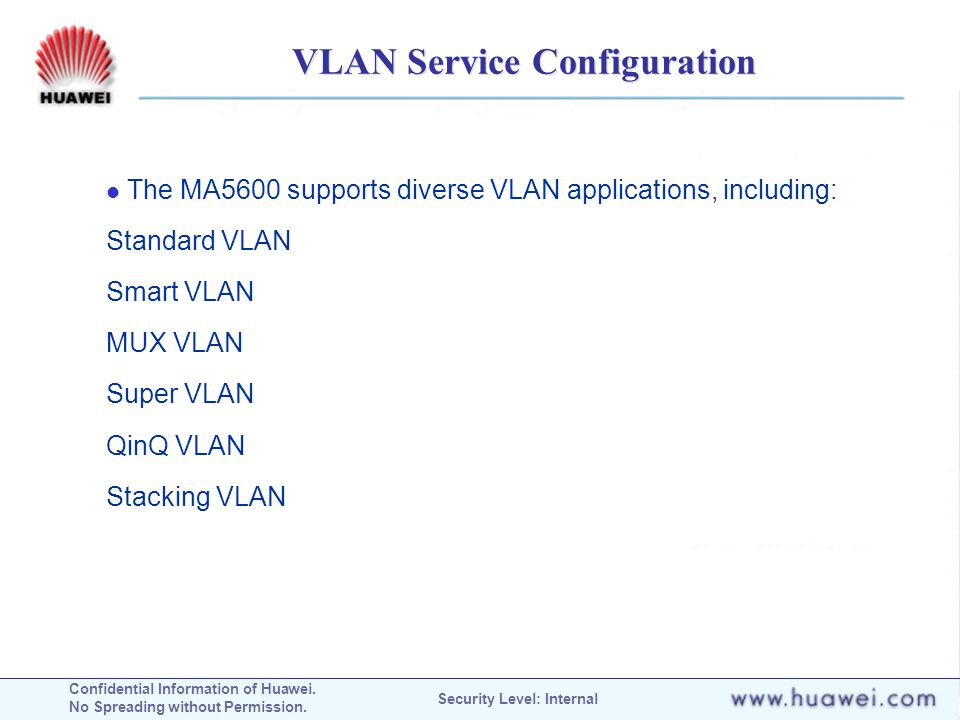 VLAN Service Configuration