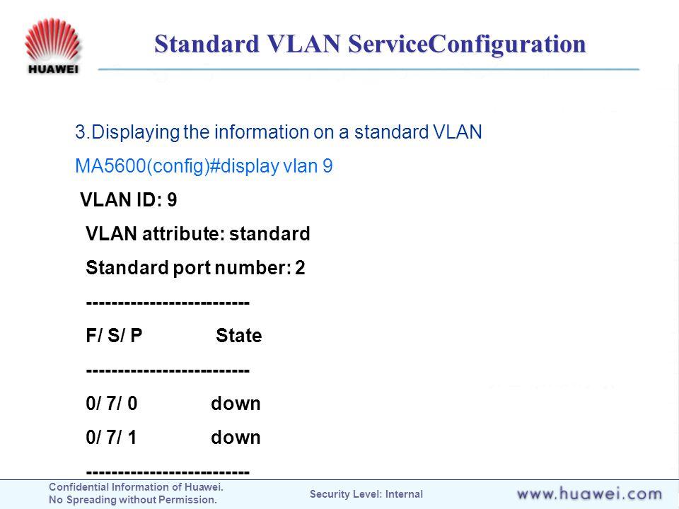 Standard VLAN ServiceConfiguration