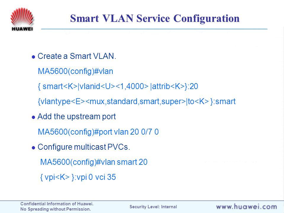 Smart VLAN Service Configuration