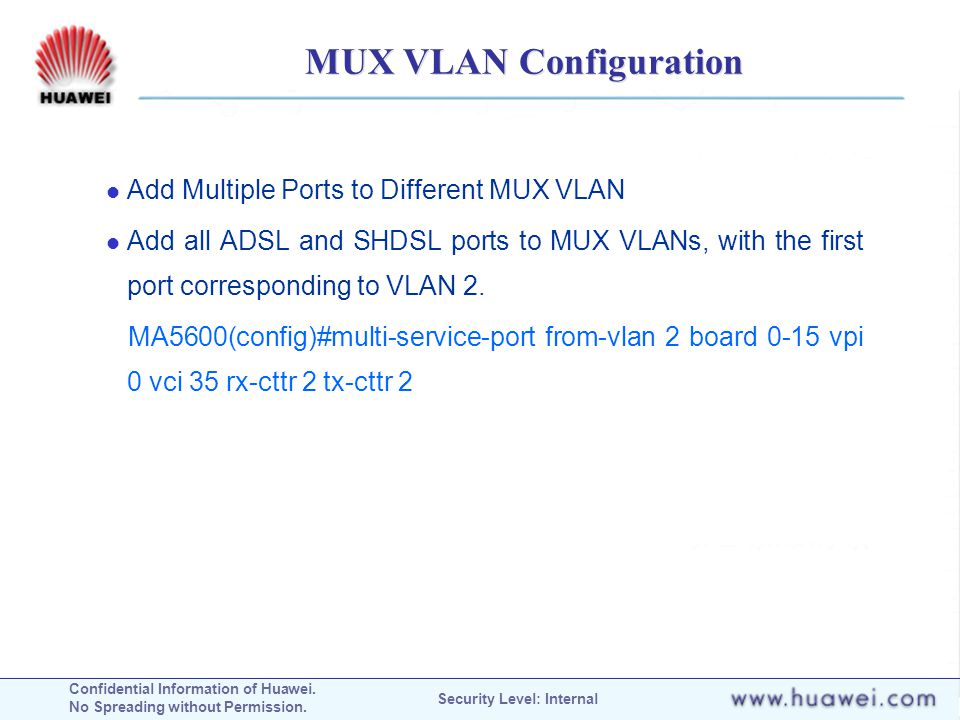 MUX VLAN Configuration