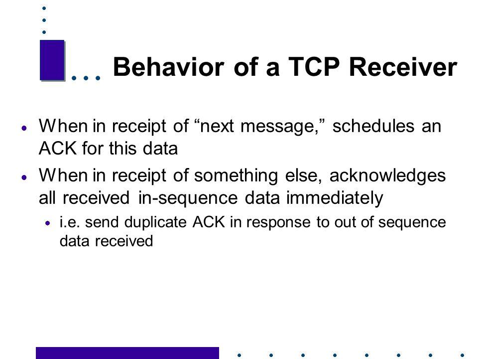 Behavior of a TCP Receiver