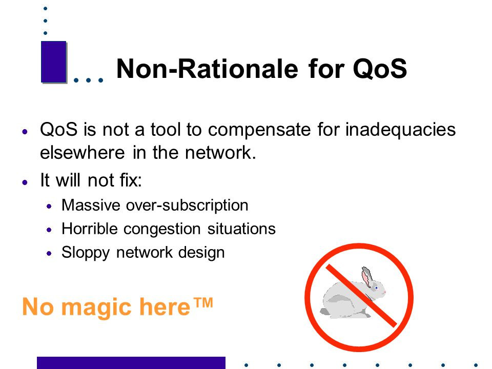 Non-Rationale for QoS No magic here™