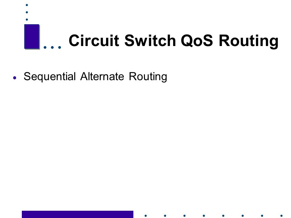 Circuit Switch QoS Routing