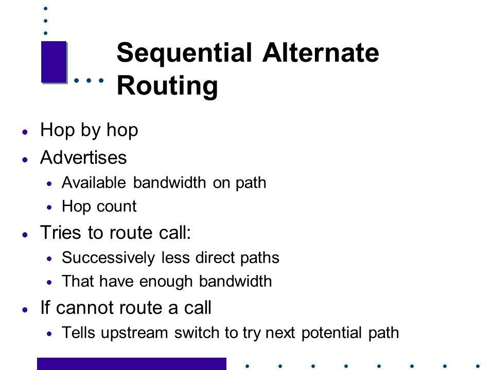 Sequential Alternate Routing