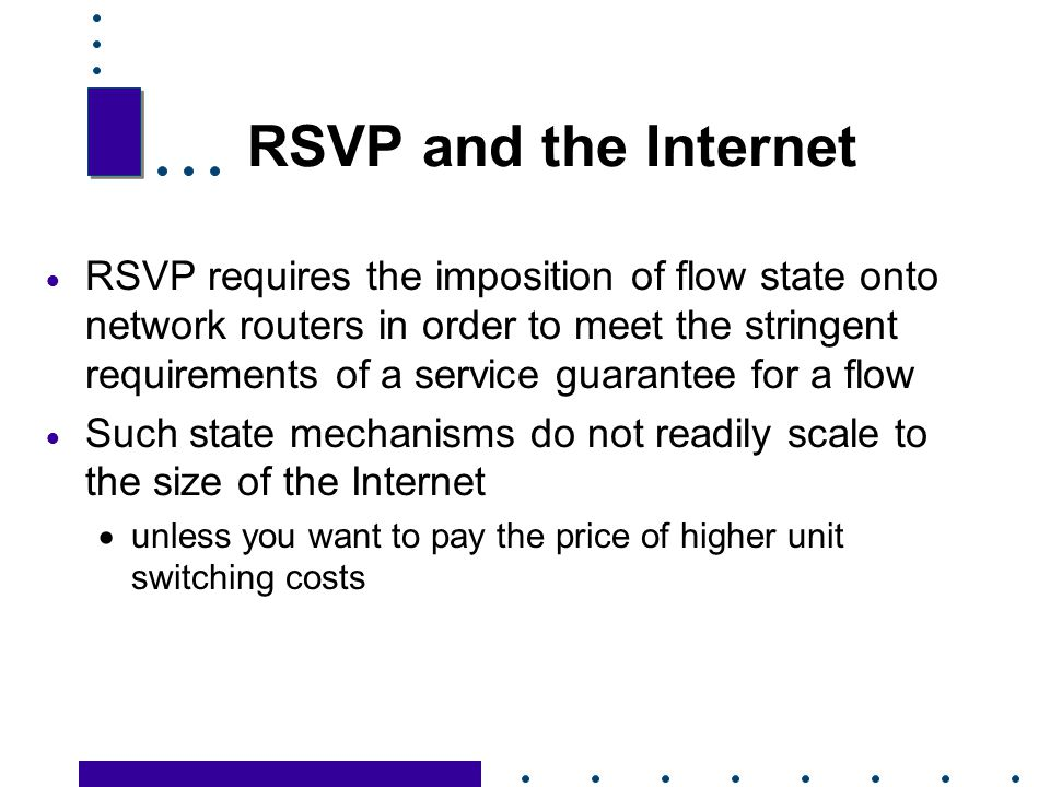 RSVP and the Internet
