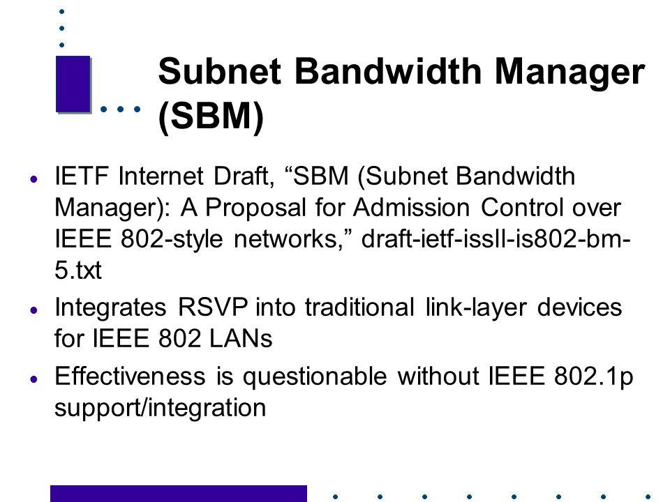 Subnet Bandwidth Manager (SBM)