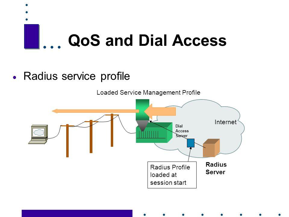 QoS and Dial Access Radius service profile