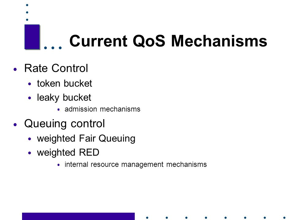 Current QoS Mechanisms