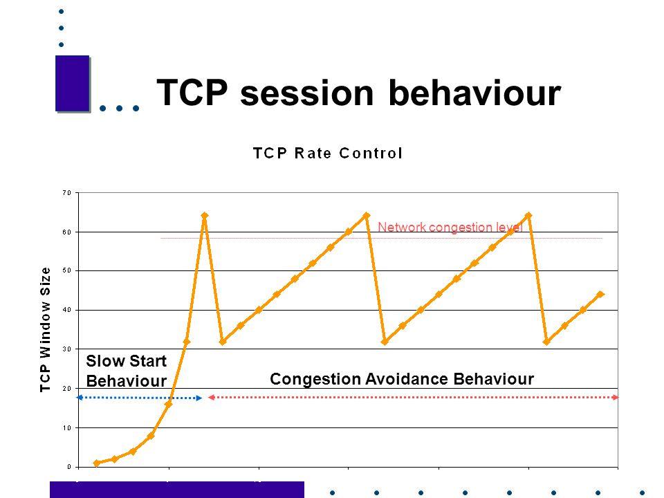 TCP session behaviour Slow Start Behaviour