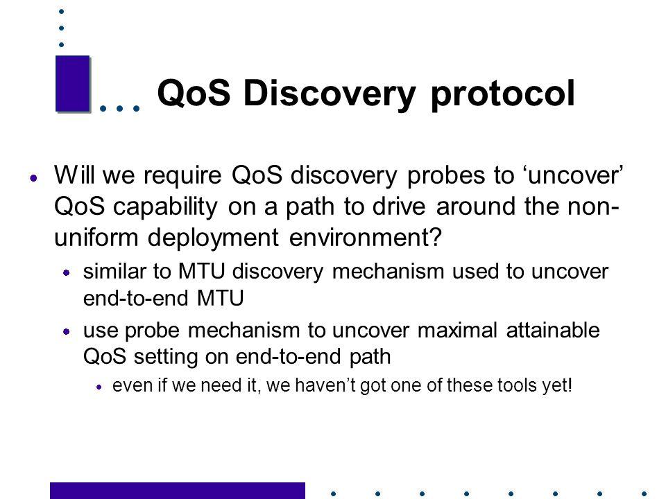 QoS Discovery protocol