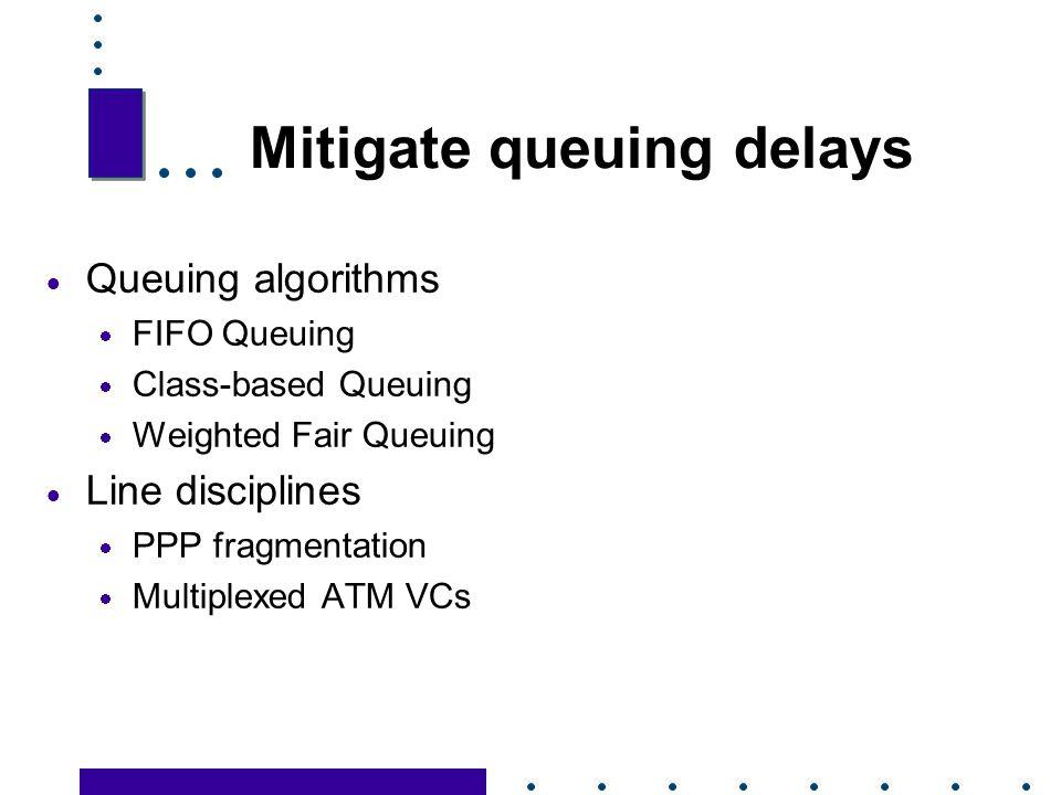 Mitigate queuing delays
