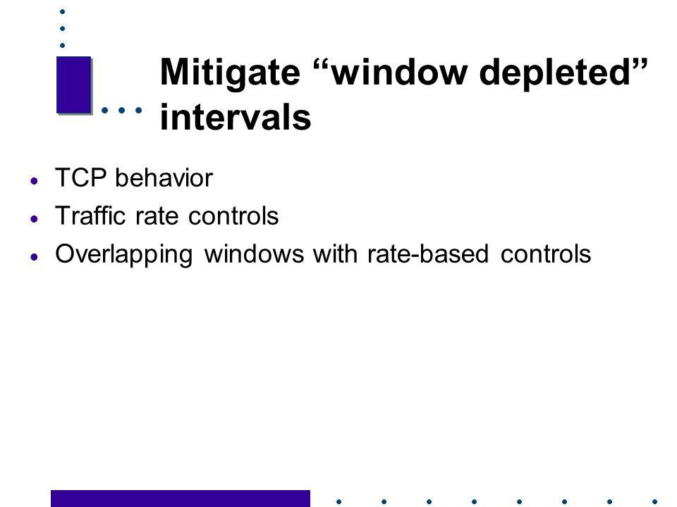 Mitigate window depleted intervals
