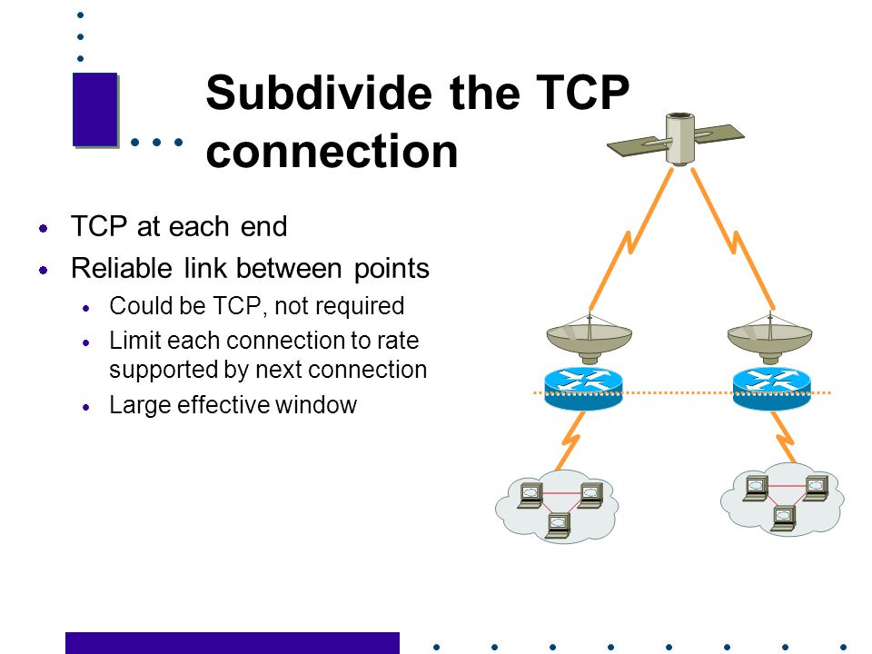 Subdivide the TCP connection