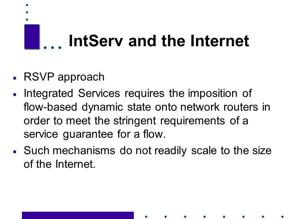IntServ and the Internet