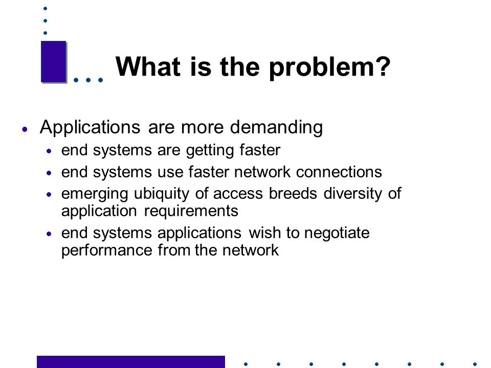 What is the problem Applications are more demanding