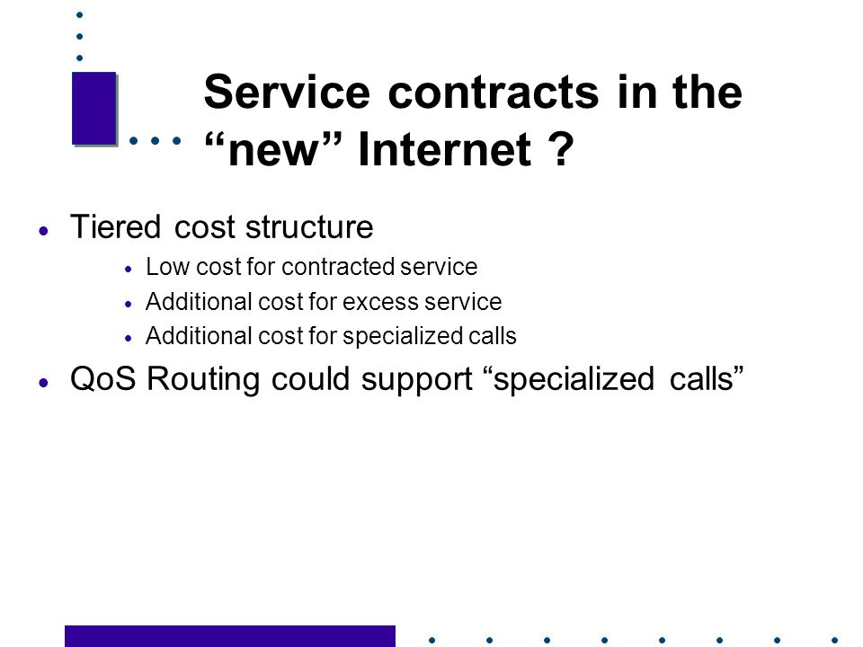 Service contracts in the new Internet