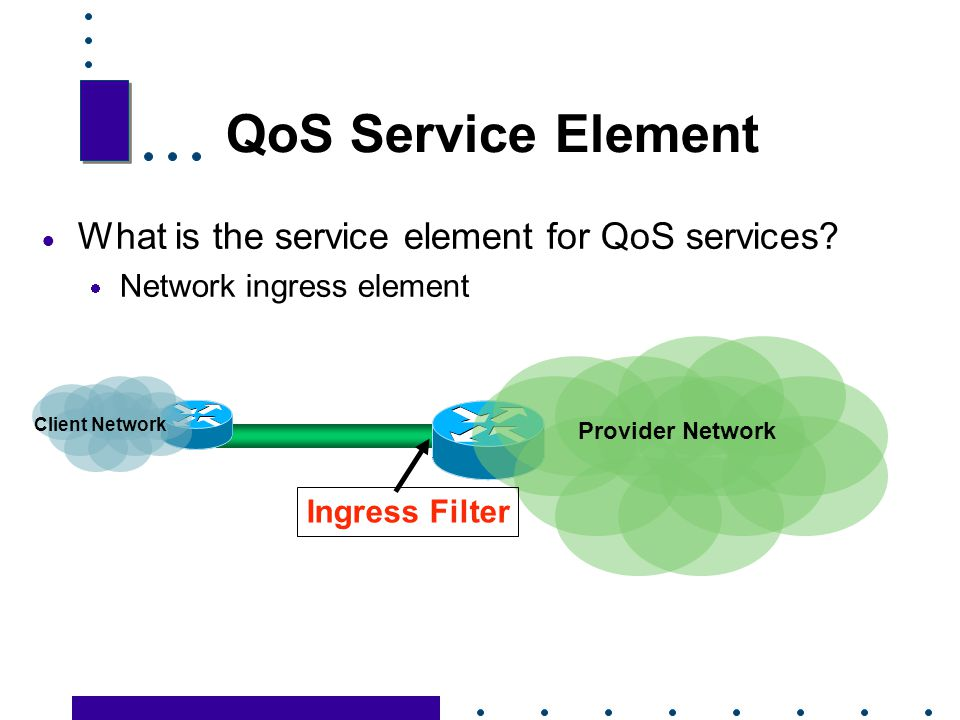 QoS Service Element What is the service element for QoS services
