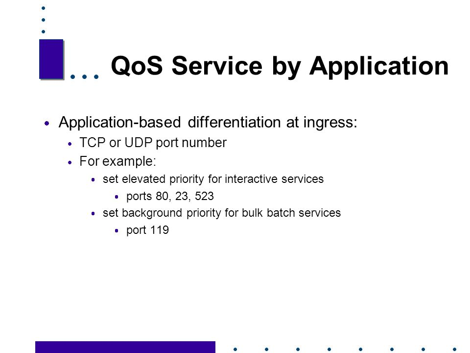 QoS Service by Application