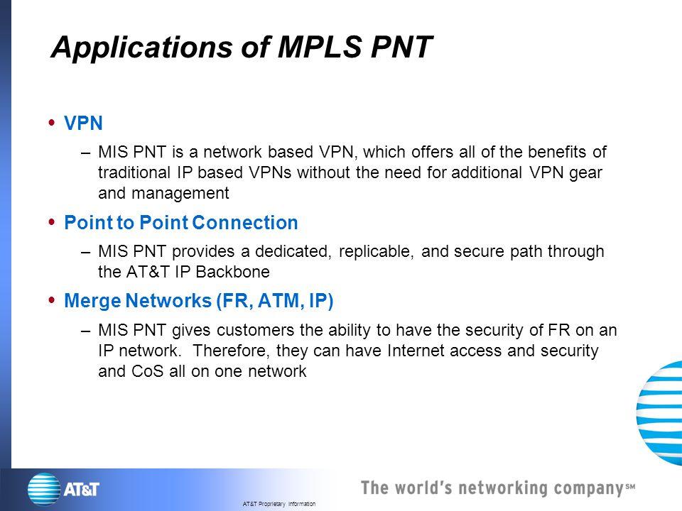 Applications of MPLS PNT