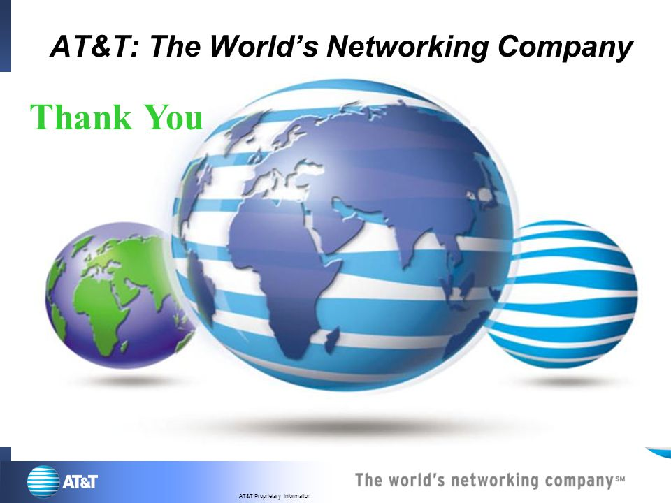 AT&T: The World's Networking Company