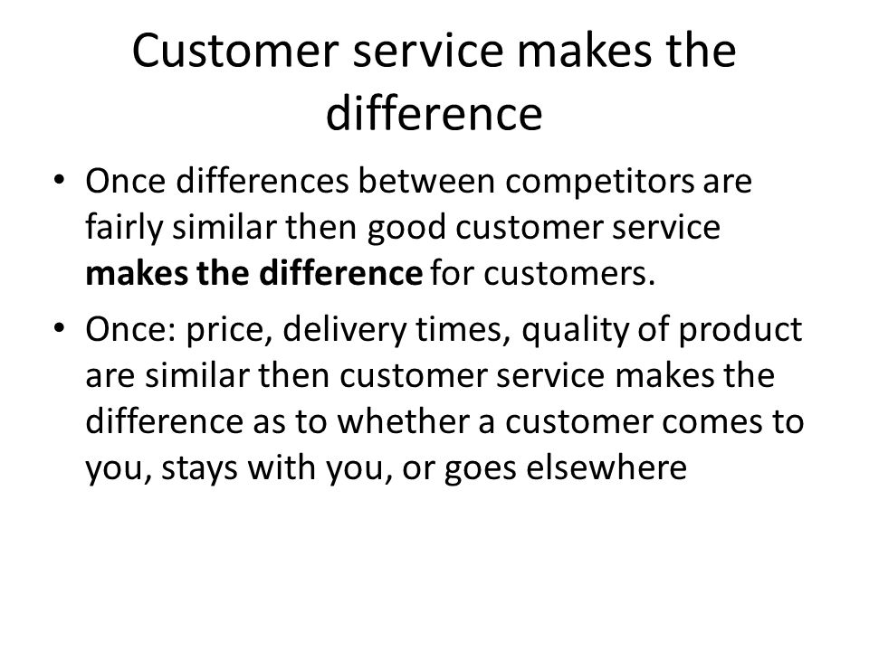 quality of good customer service