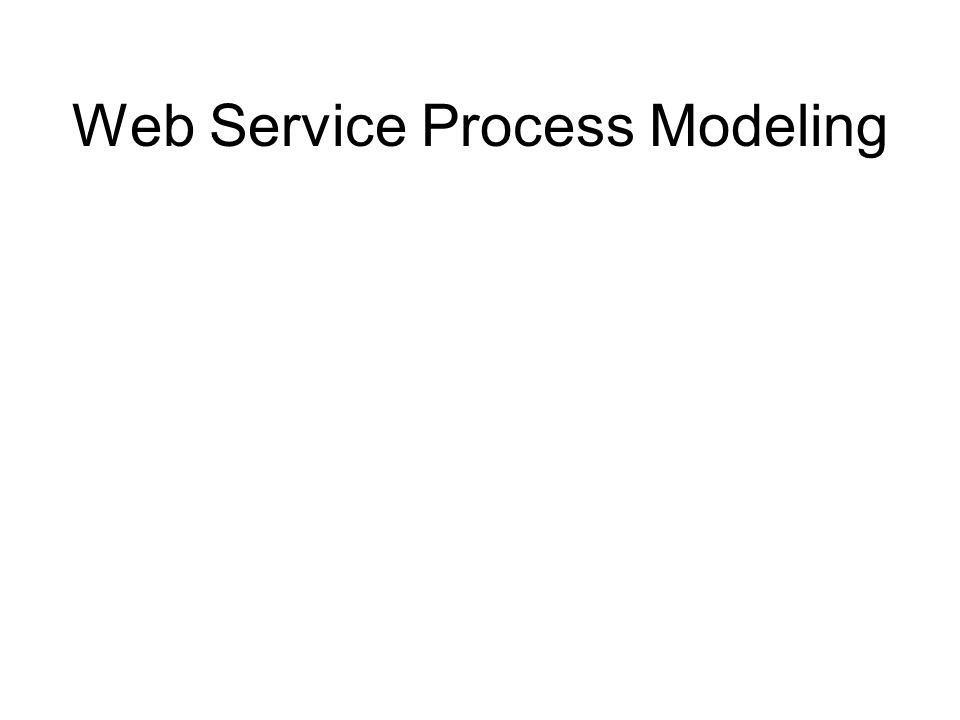 Web Service Process Modeling