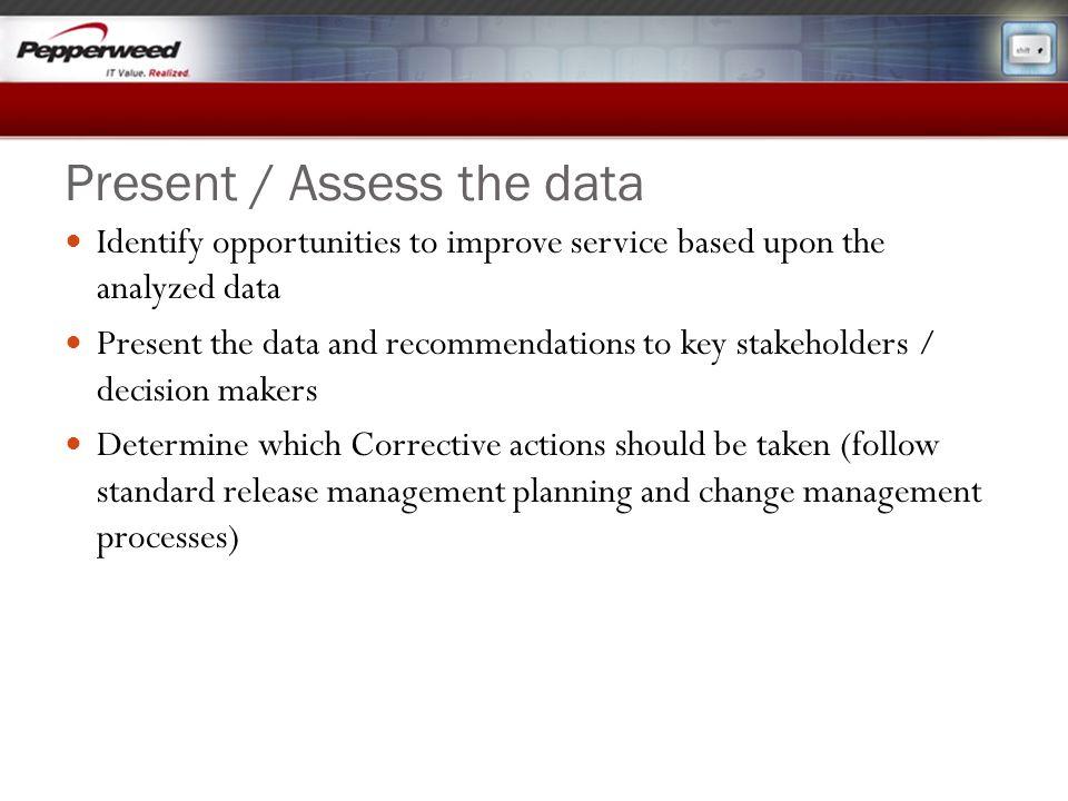 Present / Assess the data