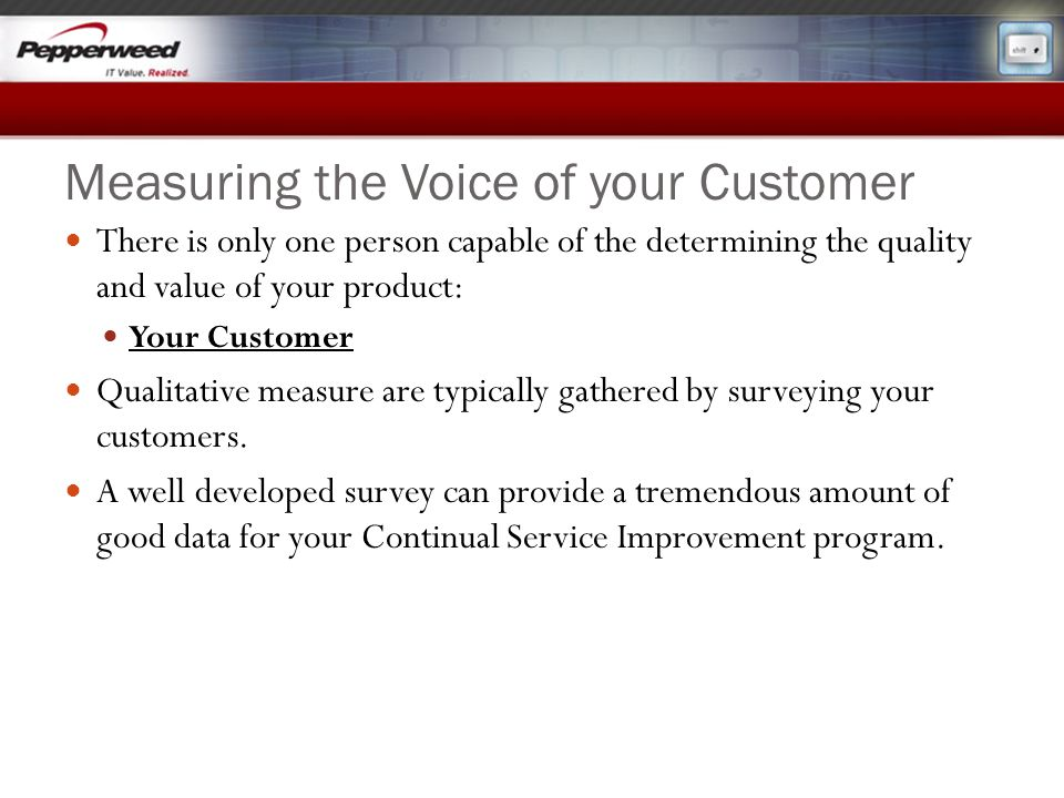 Measuring the Voice of your Customer