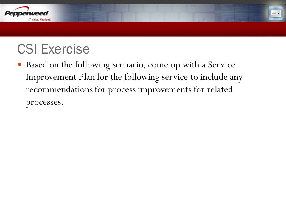 CSI Exercise