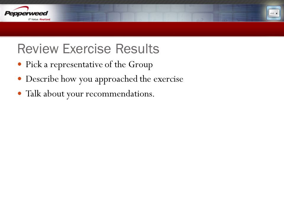 Review Exercise Results