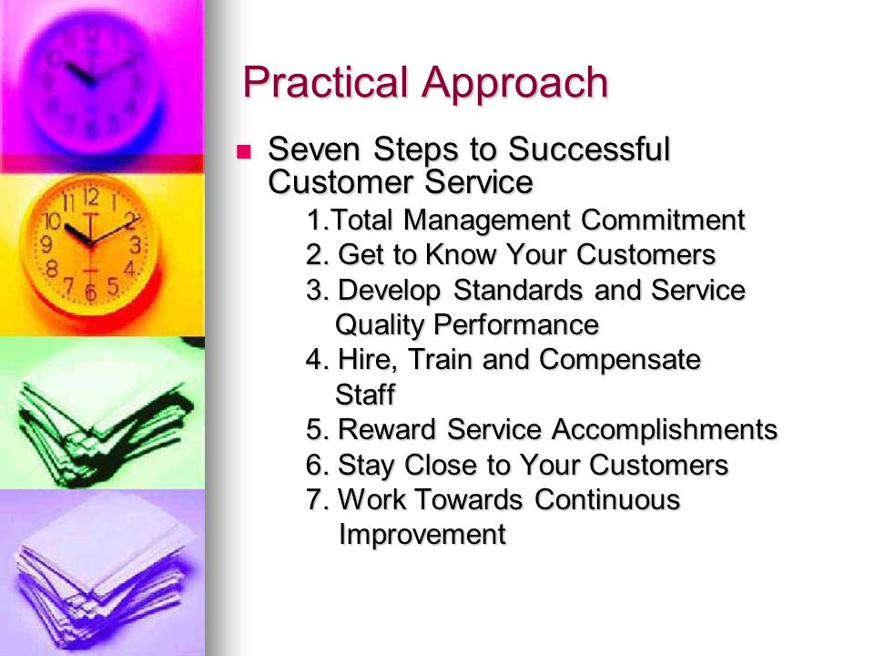 Practical Approach Seven Steps to Successful Customer Service