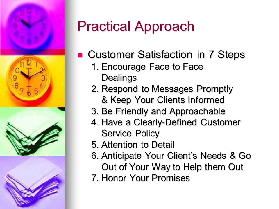 Practical Approach Customer Satisfaction in 7 Steps