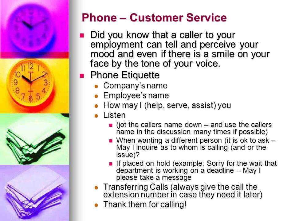 Phone – Customer Service